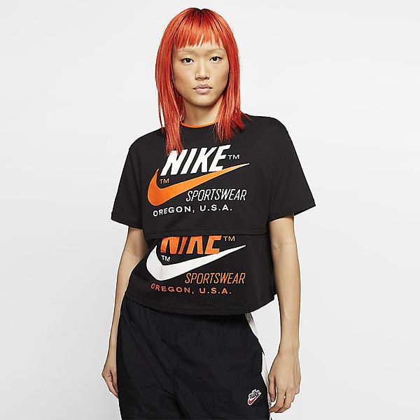 Nike Sportswear 女裝 短袖上衣 黑 CJ2041-010