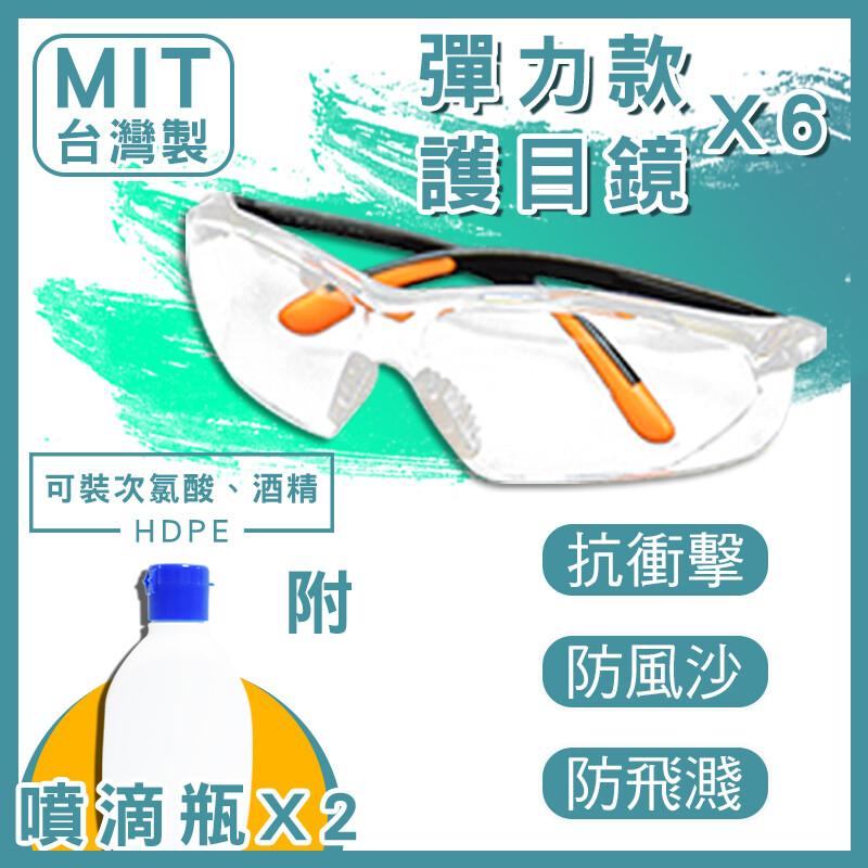 u-gogo防疫必備mit強化彈力護目鏡附兩用噴霧罐(可分裝酒精)