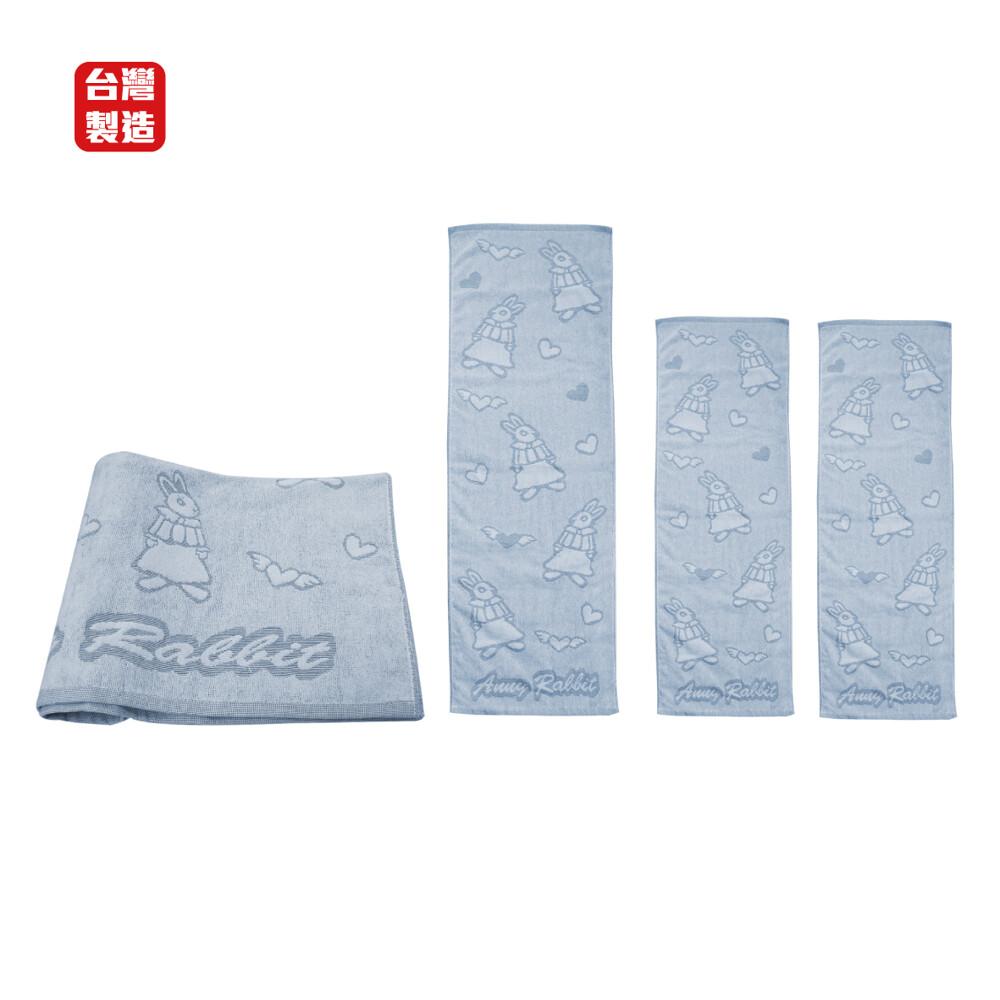 安妮兔浴巾毛巾組1浴巾1運動巾2毛巾 052lh-c3061台灣製造