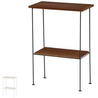 サイドラック スチールラック 木製棚板 DEPOT 幅35cm ( 収納ラック 収納 収納棚 飾り棚 ラック 完成品 )