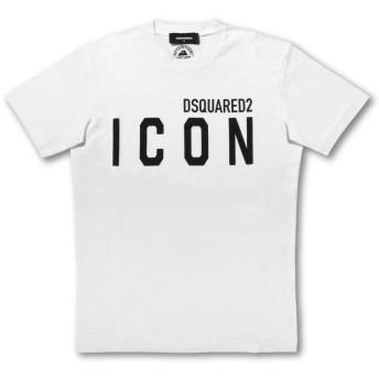 (ディースクエアード) DSQUARED 2 半袖Tシャツ ICON ホワイト M S79GC0001 S23009 100 [並行輸入品]