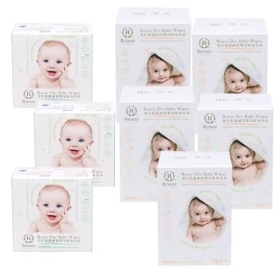 【Roaze柔仕】乾濕兩用嬰兒紗布毛巾-纖柔款(80片x5盒)(舒適款(25片x3盒)