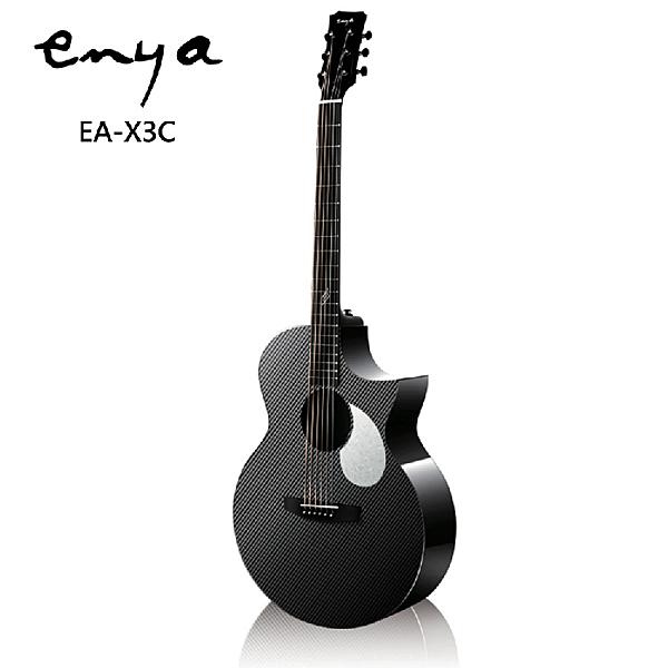 Enya EA-X3C嚴選AJ筒碳纖維41吋缺角民謠吉他-含原廠琴包