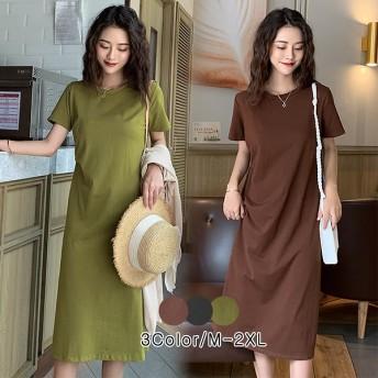 【送料無料】2020年春夏の新作韓国ファッションコレクション韓国ファッションTシャツワンピース