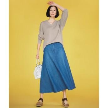 【ジユウク/自由区】 【マガジン掲載】BLUE ライトデニムスカート(検索番号D26)
