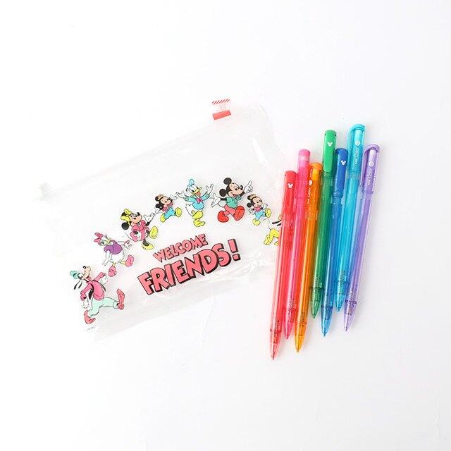 日貨Uni Color彩色自動鉛筆 米奇家族7色套組 - Norns 日本迪士尼 彩色筆芯鉛筆 米奇米妮