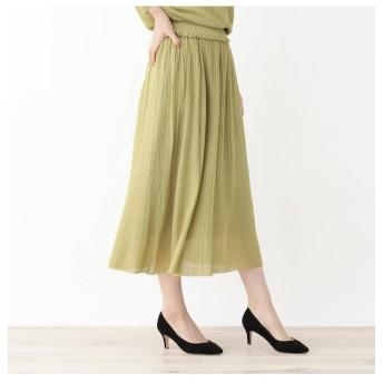 【グローブ/grove】 ◆レーヨンすかし編みニットスカート