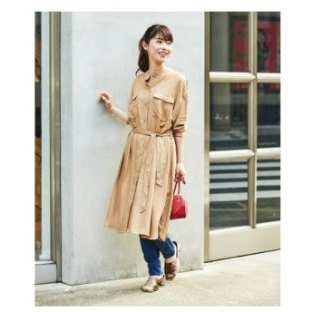 ジーラ GeeRA 【WEB限定】ミリタリーデザインシャツOP (ベージュ)