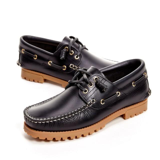 WALKING ZONE 經典款 帆船雷根鞋 男鞋 黑藍 A55-531248-61