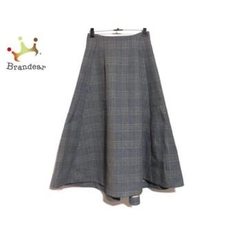 エンフォルド スカート サイズ38 M レディース 美品 グレー×ベージュ×マルチ チェック柄 新着 20200307