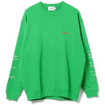 (ビームス)BEAMS/スウェット ALMANIAC Flux Car Crewneck Sweatshirt メンズ GREEN XL