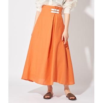 Whim Gazette(ウィム ガゼット) レディース 【O'NEIL OF DUBLIN】ロングAラインスカート オレンジ