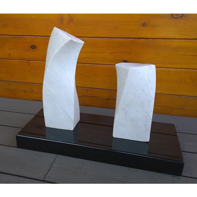 『對話』藝術石雕 - 漢白玉