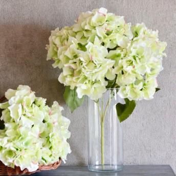 5輪咲き造花あじさい単品グリーン