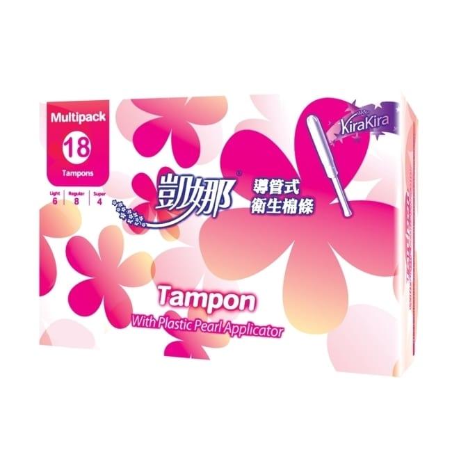 凱娜導管式衛生棉條 綜合型18入