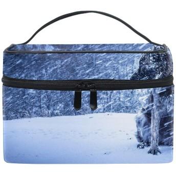 収納ポーチWinter Dog Snow Animals Nature 旅行 便利 防水 大容量 超軽量 おしゃれ かわいい