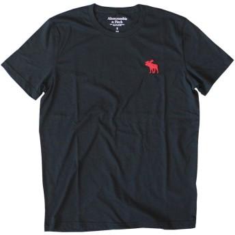(アバクロンビー & フィッチ) Abercrombie & Fitch ビックムース 無地Tシャツ Big Icon Crew Tee Black ブラック S [並行輸入品]