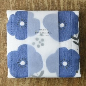 日本製 七重紗家事布(藍花)