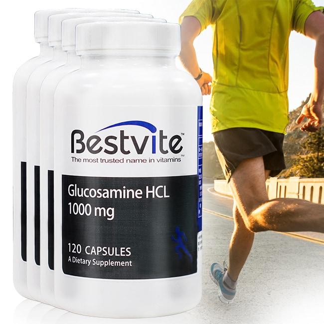 【美國BestVite】必賜力葡萄糖胺膠囊4瓶組 (120顆*4瓶)