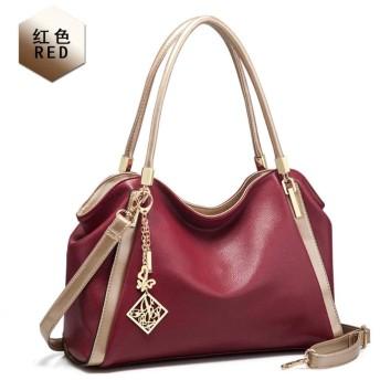 2019新しいハンドバッグショルダー斜めのファッションハンドバッグヨーロピアンスタイルの女性のバッグの工場,赤ワイン