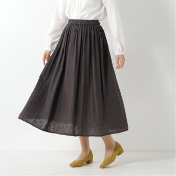 Wガーゼギャザースカート