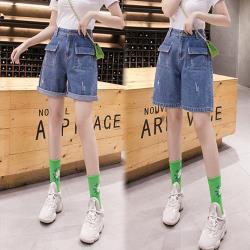韓國K.W. (預購) 運動宣言牛仔褲裙