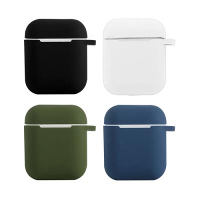 AirPods 純色矽膠保護套 (附扣環)