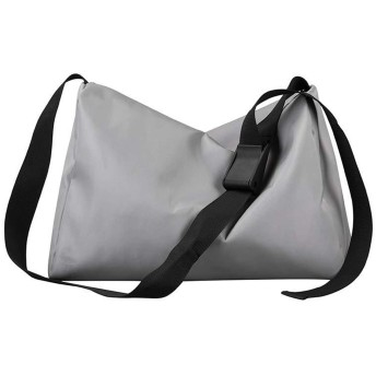 TOLYMOMO ショルダーバッグ ナイロン 男女兼用 2WAY 斜め掛け 肩掛け 大容量 防水 (grey)