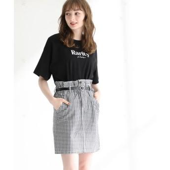 ハニーズ ロゴプリントTシャツ レディース ブラック L 【Honeys】