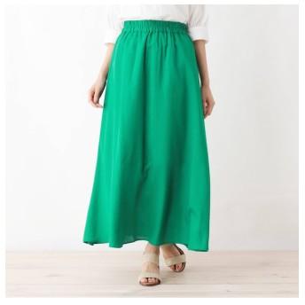 【シューラルー/SHOO・LA・RUE】 【WEB限定サイズあり】レーヨン×リネンロングスカート