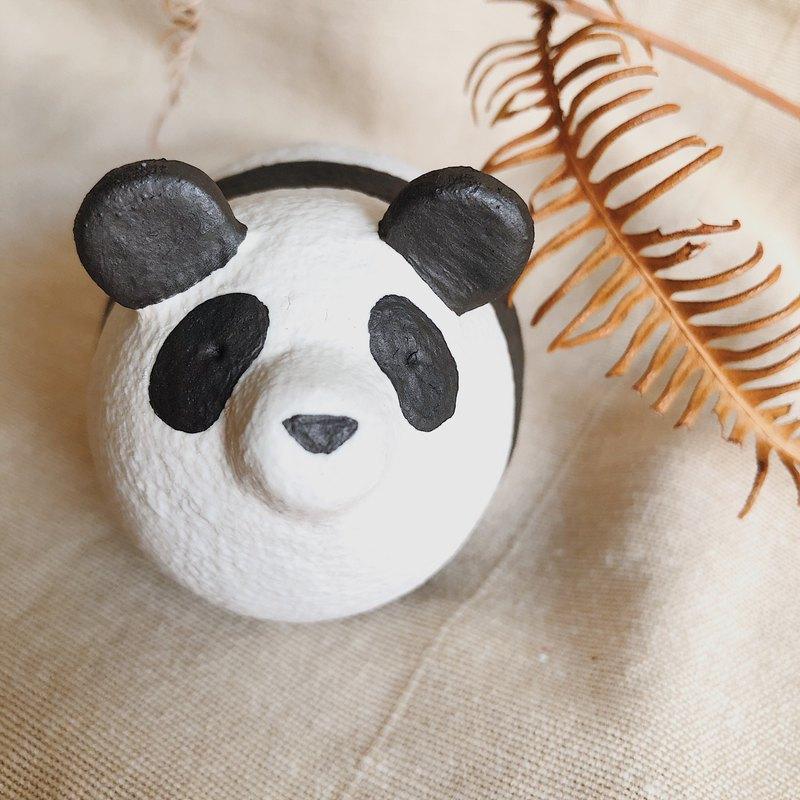 圓滾滾動物陶偶-熊貓