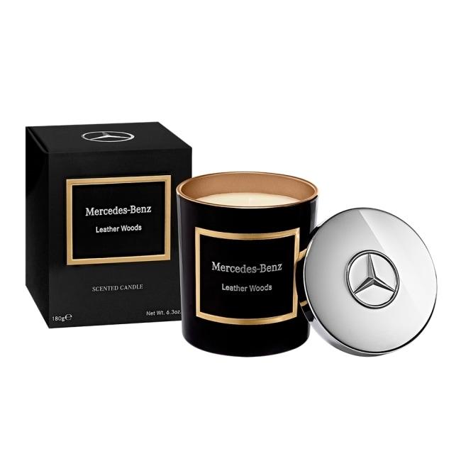 Mercedes-Benz 木質與皮革 頂級居家香氛工藝蠟燭 180g