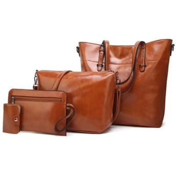 ソリッドカラーファッションハンドバッグオイルワックス革のハンドバッグのショルダーバッグ画像バッグヨーロッパとアメリカ,褐色