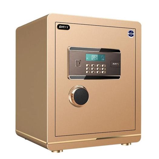 大一保險箱家用防盜全鋼 指紋保險櫃辦公密碼 小型隱形保管櫃床頭 618年中鉅惠