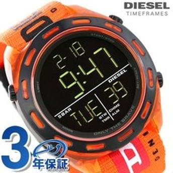 dポイントが貯まる・使える通販| ディーゼル 時計 デジタル メンズ 腕時計 DZ1896 DIESEL クラッシャー 47.5mm ブラック×オレンジ 【dショッピング】 腕時計 おすすめ価格