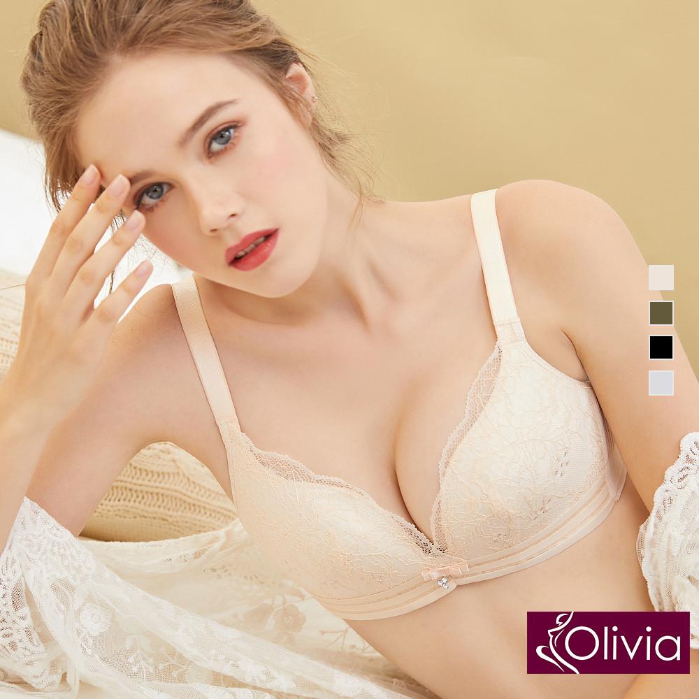 內衣 Olivia 無鋼圈輕薄透裸感水晶杯內衣-膚色