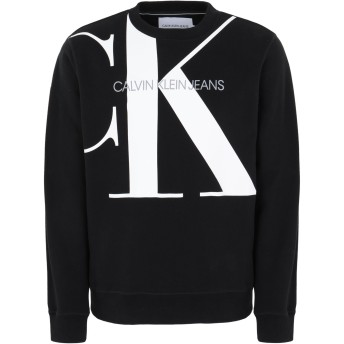 《セール開催中》CALVIN KLEIN JEANS メンズ スウェットシャツ ブラック S コットン 100% UPSCALE MONOGRAM CRE