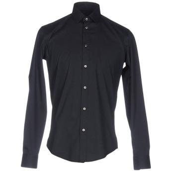 《セール開催中》BRIAN DALES メンズ シャツ ダークブルー 37 コットン 80% / ナイロン 15% / ポリウレタン 5%