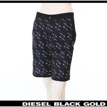 ディーゼルブラックゴールド DIESEL BLACK GOLD ハーフパンツ レディース 総柄 星柄 サイドライン 薄手 ショートパンツ SINKER-A die-l-p-78-458