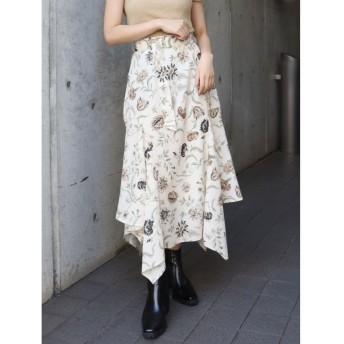 (MURUA/ムルーア)アメリアフラワースカート/レディース アイボリー