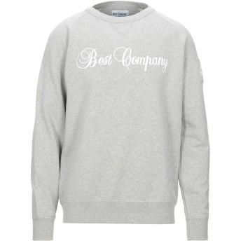 《セール開催中》BEST COMPANY メンズ スウェットシャツ ライトグレー L コットン 100%