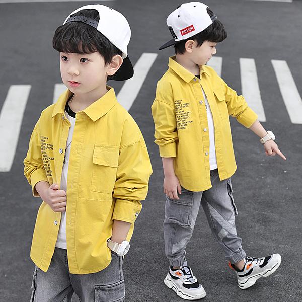 童裝男童襯衫2020春裝新款兒童襯衣洋氣韓版帥氣春秋款長袖上衣潮