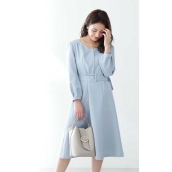 PROPORTION BODY DRESSING/プロポーションボディドレッシング ◆フロント釦フレアワンピース ブルー 2