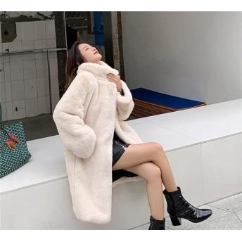 注目すべきアイテム! 2019 冬 フェイクファー ファッション ミンク 中・長セクション レジャー 厚さ ゆったりする コート 女性 百掛け エレガント 気質 トップス
