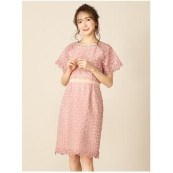 MIIA カラー配色ワンピース ピンク
