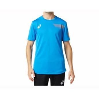 EL グラフィックショートスリーブトップ ASICS(アシックス) バレ-ボ-ル Tシャツ ポロシャツ (2051A108)