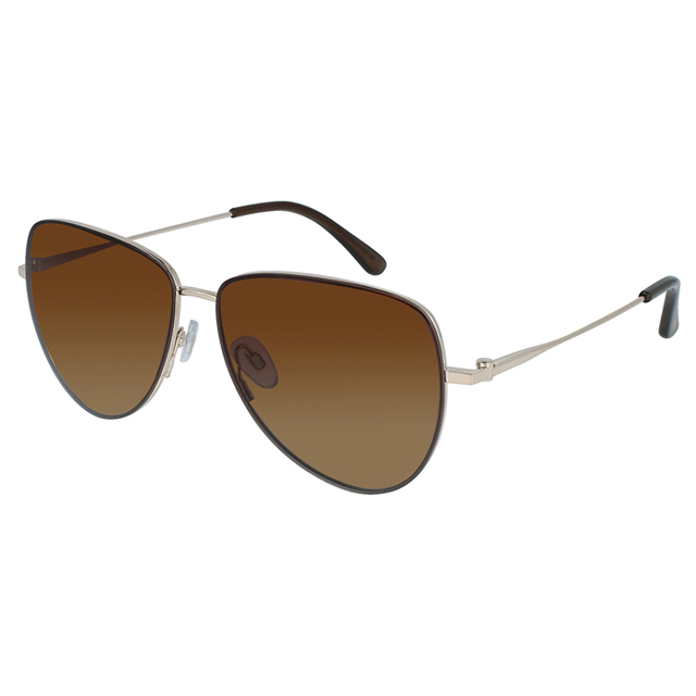 【INVU】瑞士簡約優雅線條偏光太陽眼鏡(金) P1000B