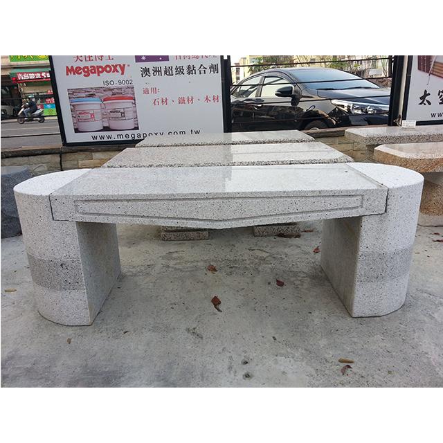 136型石椅 - 白灰花崗