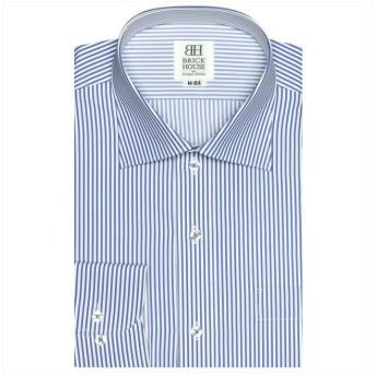 (BRICKHOUSE/ブリックハウス)ワイシャツ 長袖 形態安定 ワイド スリム メンズ/メンズ ブルー