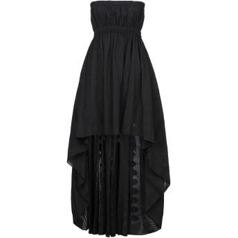 《セール開催中》DIMORA レディース ロングワンピース&ドレス ブラック S コットン 100%